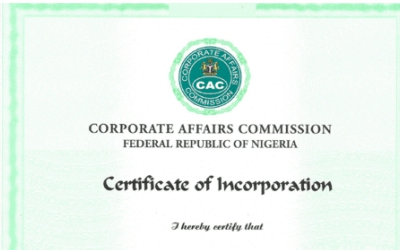 CAC Incorporation Certificate