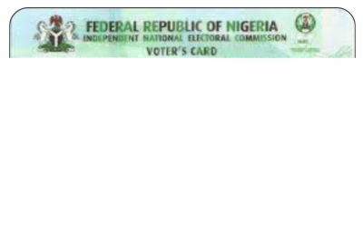Voters Registration Card